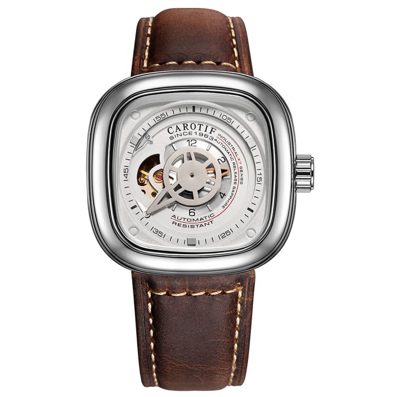 Carotif casual læder mekanisk ure - Mænds ure - Foto 2