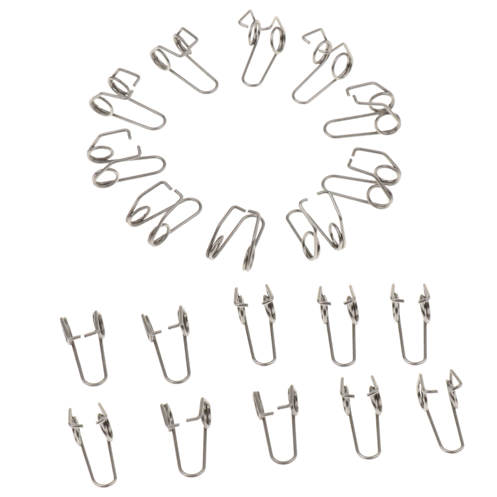 Tooyful 20 Pieces Trumpet Water Key Waterkey Spit Value Springs For Brass Instrument Parts Accessories