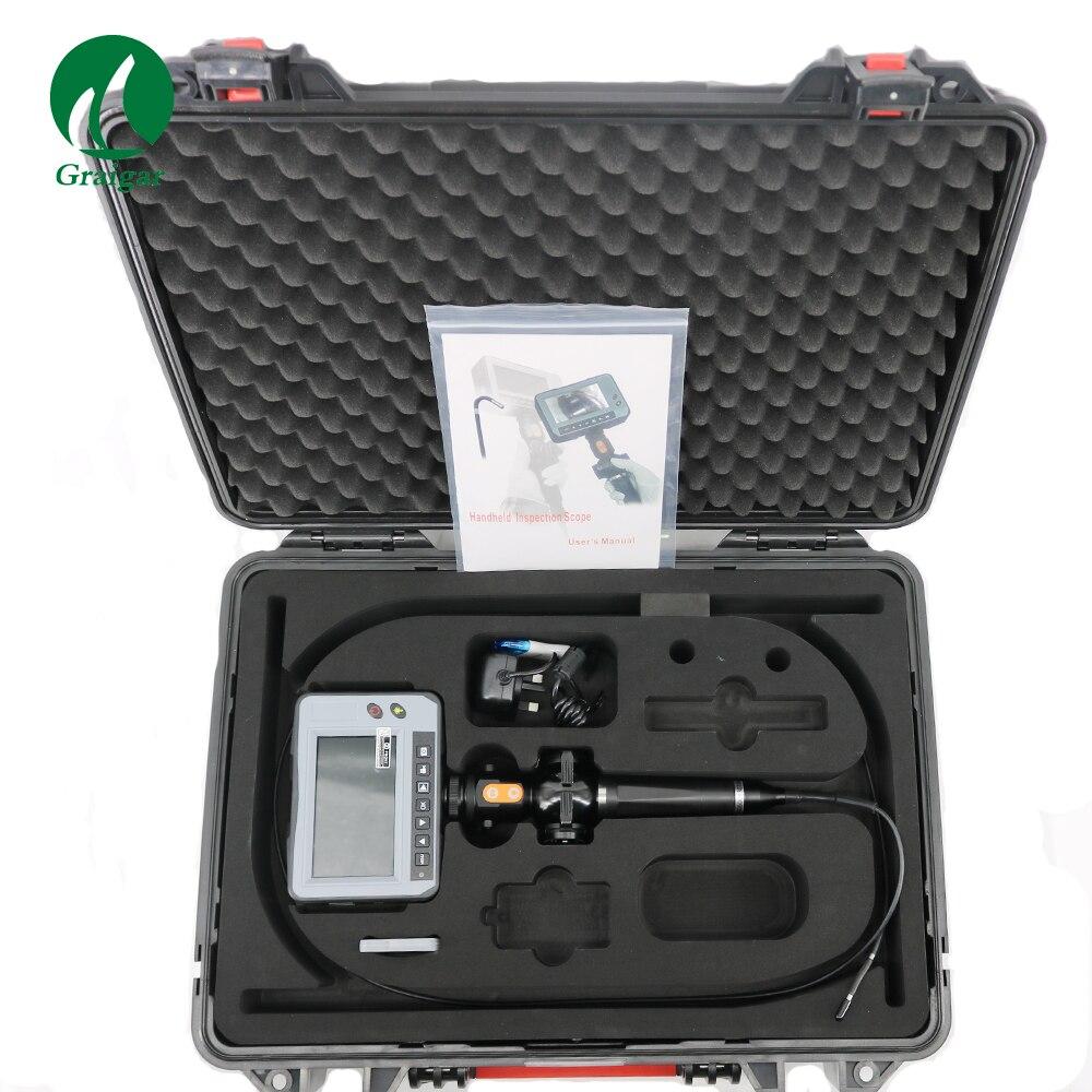 Nova Indústria DR4540F Portátil À Prova D' Água 4.3 ''LCD Vídeo Endoscópio 4-Way OD 4.0 milímetros Cobra Câmera de Inspeção Endoscópio