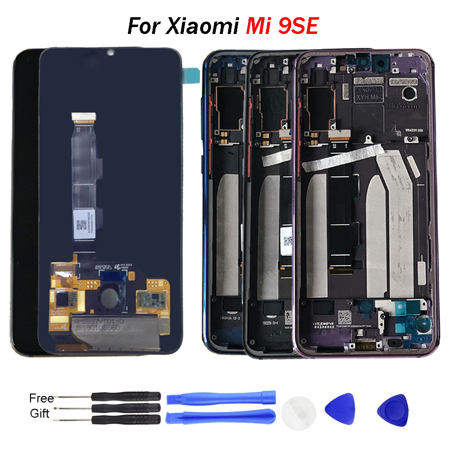 Original Mi 9SE LCD Screen with frame 5.97 INCH AMOLED Touch Digitizer Assembly For Xiao mi MI Display Panel