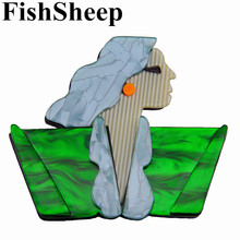 FishSheep Lady Figure Acrylic Broches Jewelry Large Girl Icon Acetate Fiber Pins And Brooches For Women Handmade Lapel Pin Badge fishsheep large women figure acrylic brooches and pins fashion resin girl icon big brooch pins female fashion jewelry accessory