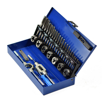 32pcs HSS Tap & Die Set Durable Metric Tap Die Plug Drill Bits M4 M12 Hand Tools Hand Screw Taps For Metalworking