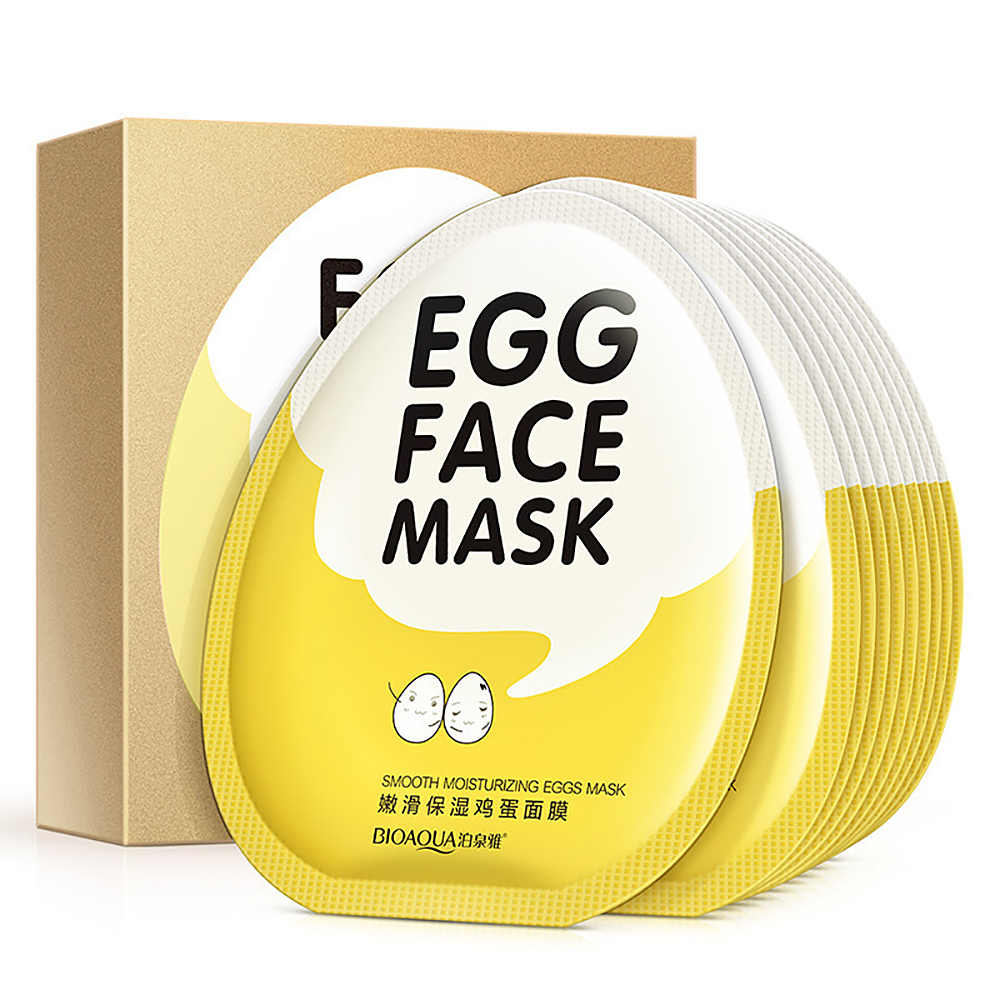 High Quality Egg Facial Mask Smooth Moisturizing Brighten Face Mask Oil Control Shrink Pores Whitening Brighten Mask Skin Care