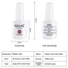 ROSALIND Gel 1S 15ml Nail Polish 1323-1532 Gel Varnishes For Nail Art Design Manicure UV LED Lamp Soak Off Nail gel lacquer