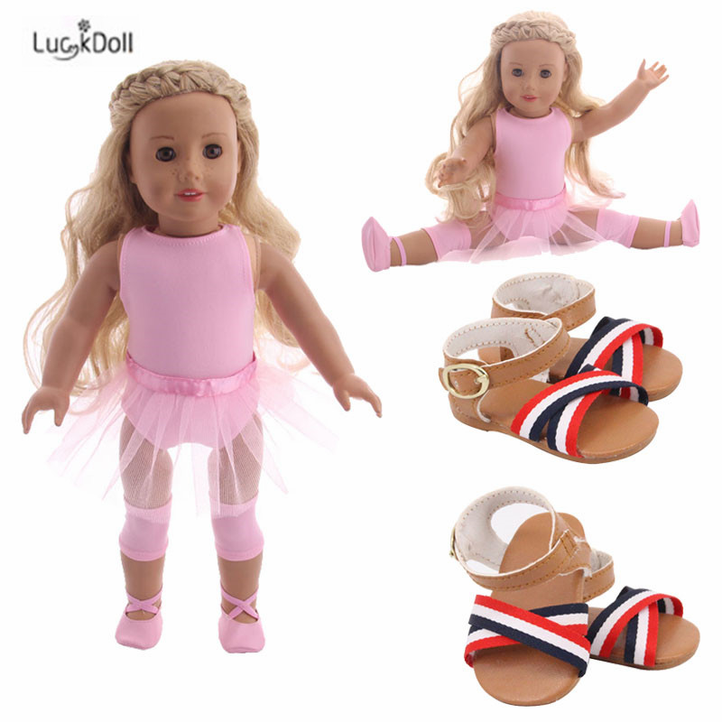 LUCKDOLL Fashion Ballet Dress Fit 18 Inch American 43cm Baby Doll Clothes Accessories,Girls Toys,Generation,Birthday Gift