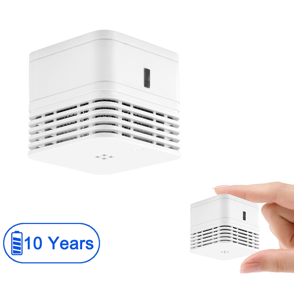 Mini Smoke Alarm,10-Year Battery Operated Fire Detector With Hush Mode, 85 DB Loud For Home/Store Model: MARBLE 10Y