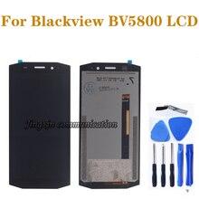 """5.5 """"用の元の表示 Blackview BV5800 BV5800 プロ液晶 + タッチスクリーンデジタイザ交換 BV 5800 液晶修理部品"""