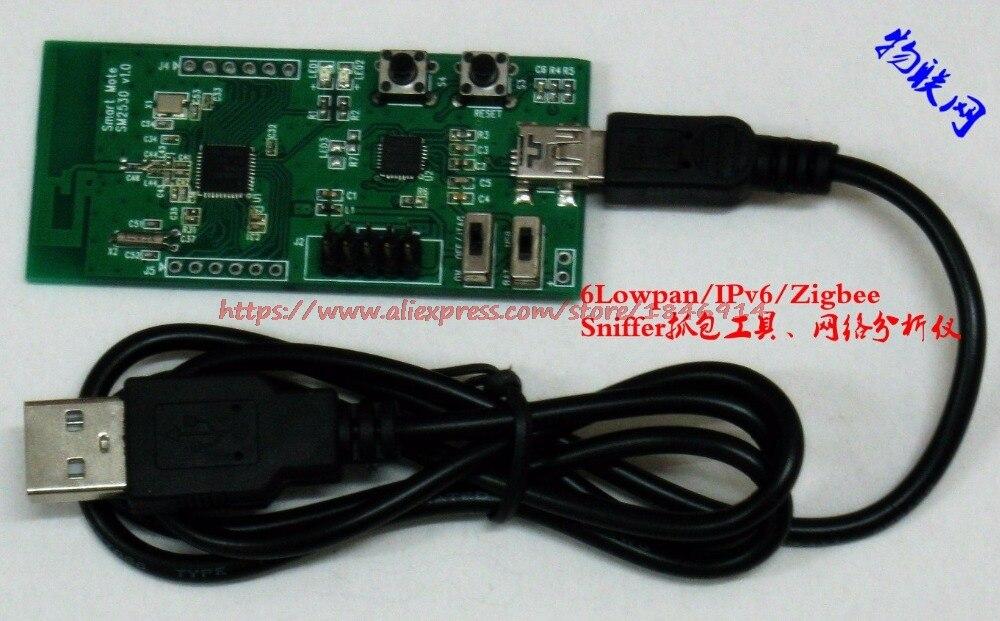 Free Shipping  CC2530 6Lowpan/IPv6/Zigbee (sniffer) Network Protocol Analyzer