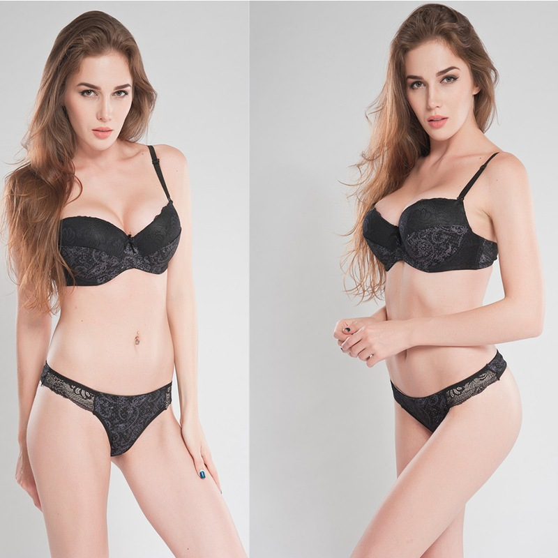 b8c14f99c0 Intimates Set 2017 Women Sexy plus size Bra Sets Embroidered Lace Thong Bra  And Panty Set C D E 34 36 38 40 Sexy Lingerie Set-in Bra   Brief Sets from  ...
