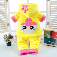 New Autumn Winter Cute Baby Girl Clothes Add Cotton Padded Warm 0 1 2 Years Newborn