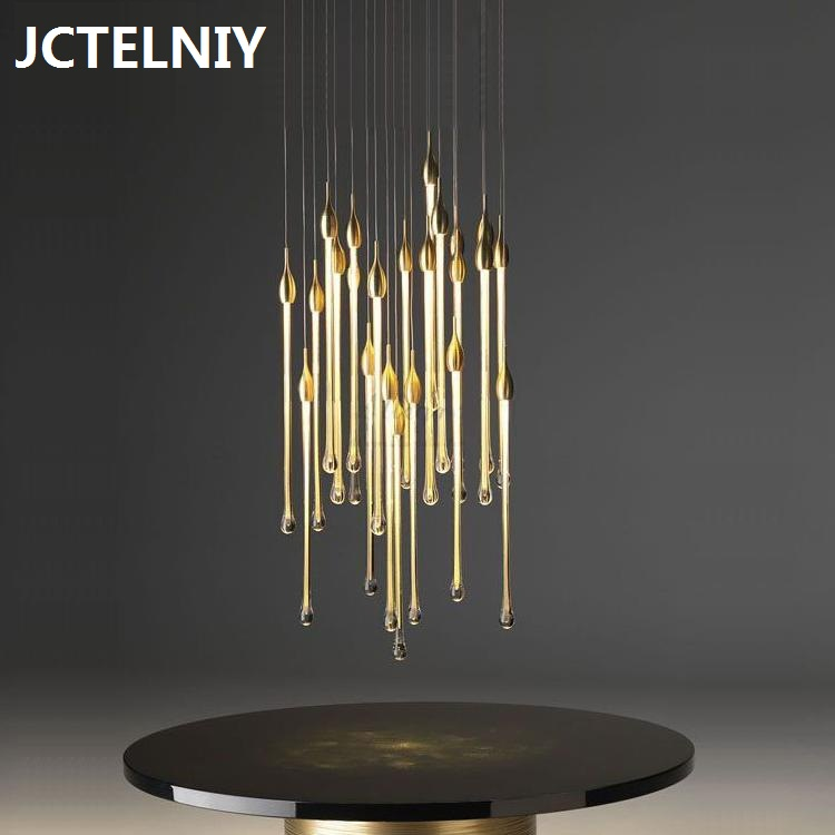 Crystal chandelier meteor shower glass drop - drop fishing net line chandelier villa bar hall restaurant