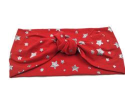 J173108 модные эластичные новые серебряные Звездные печатные хлопковые аксессуары для волос с узлом для женщин теплые повязки для женщин