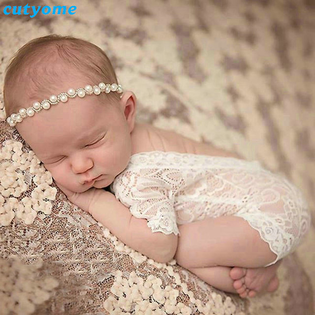 Cutyome hot sale 2017 new newborn photography props baby lace romper fotografia princess costumes clothes for