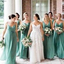 Mint Green Bridesmaid Dress Cheap Chiffon Summer Country Gar