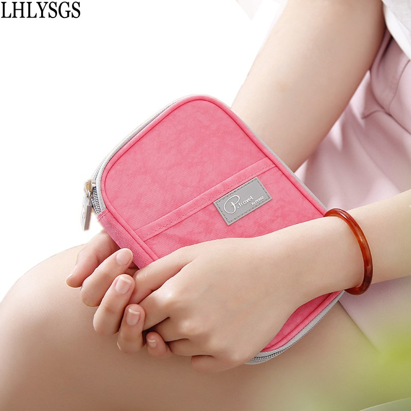 LHLYSGS Brand New Korean Style Short Section Document Folder Passport Package Women Travel Waterproof Nylon Organizer Multi Pock ...