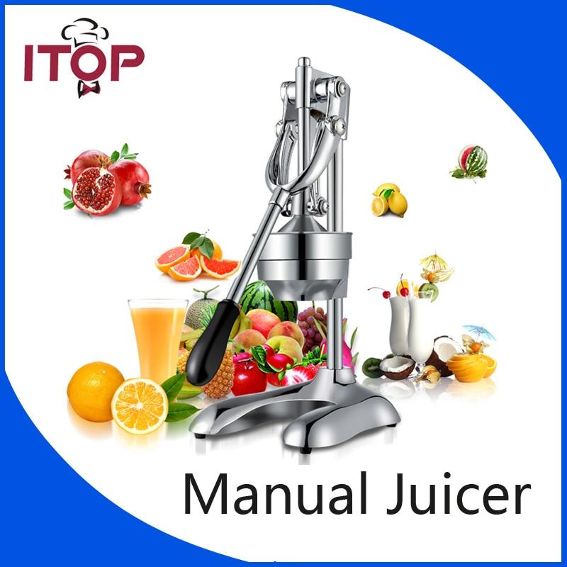 ITOP Manual Juicer Orange Lemon Squeezers Fruit tool Citrus Lime Orange Juice Maker Kitchen Accessories Cooking tools manual lemon orange juicer light green