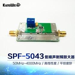 Wzmacniacz fal RF SPF5043 moduł 50 MHz 4000 MHz niski poziom hałasu płaskość dobry wzmacniacz o niskim poziomie szumów|Nawijarki kabli|Elektronika użytkowa -