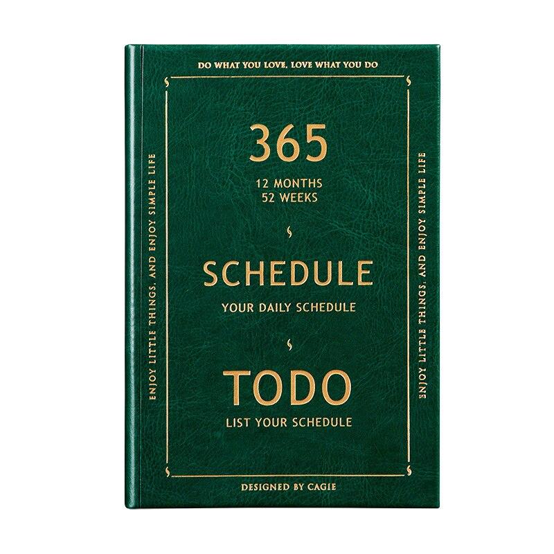 Vintage 365 jours carnet et revues de luxe bricolage 365 agenda agenda agenda organisateur A5 calendrier Business carnet de notes cadeaux + stylo