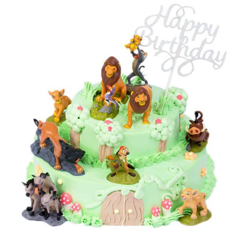 Lion King รูปเค้ก topper Lion Guard King Kion Simba ตัวเลข Bunga Beshte Fuli Ono Cupcake อุปกรณ์ตกแต่ง