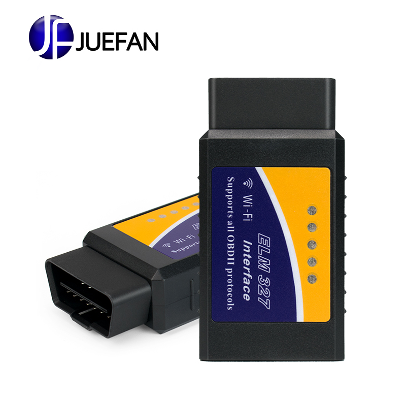 2016 Best Quality ELM327 Wifi Scanner Auto OBD2 Diagnostic Tool ELM 327 WIFI OBDII Scanner V 1.5 Wireless For Both Android / IOS