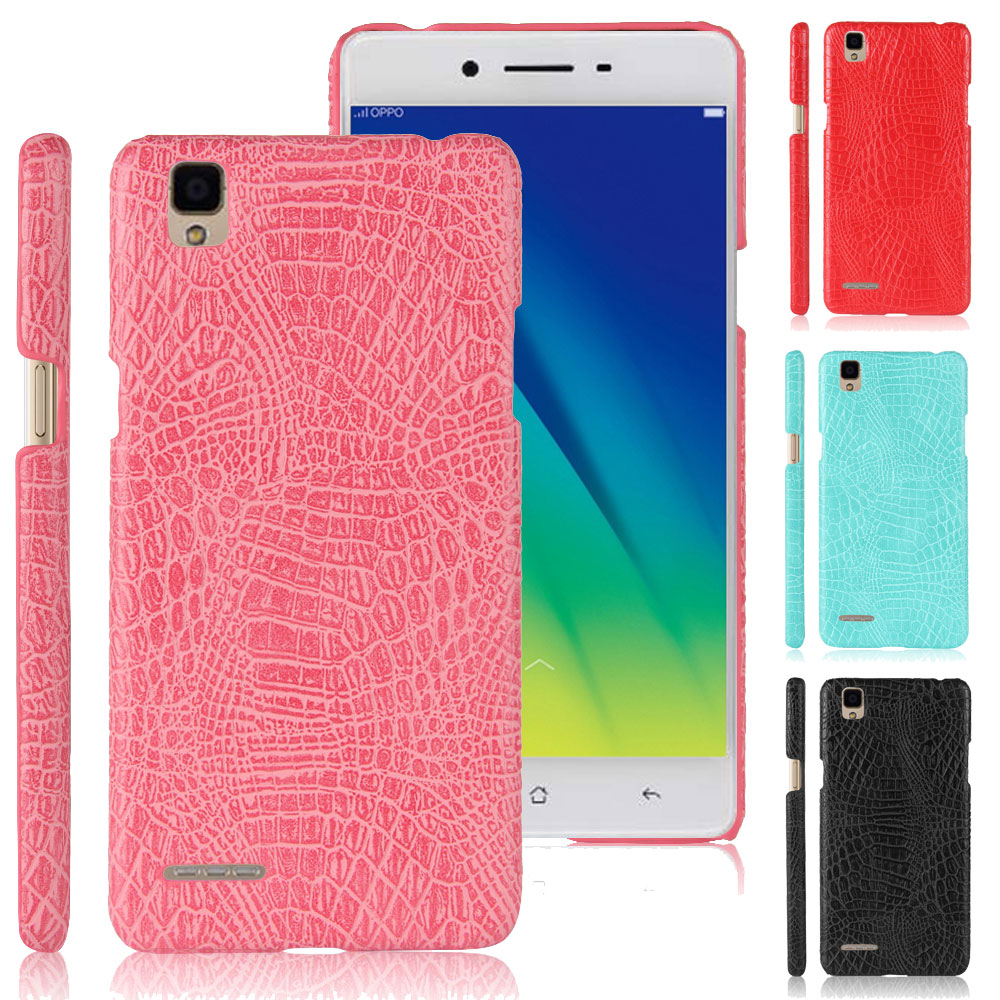Luxury Crocodile Pattern Leather Phone <font><b>Case</b></font> For <font><b>OPPO</b></font> <font><b>A35</b></font> 5.0inch Ultrathin PU Leather Anti-Knock Back Cover <font><b>Cases</b></font> image