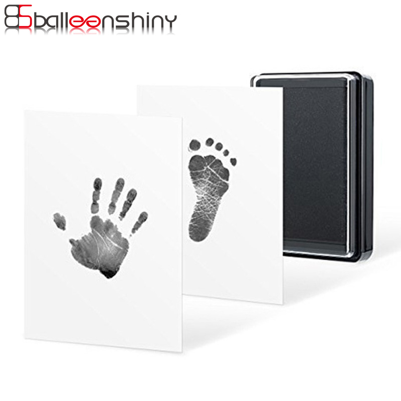 Balleenshiny Baby Handprint And Footprint Ink Pad 100% Non-toxic Inkless Safe Imprint Souvenir Hand & Footprint Makers Toy Gift
