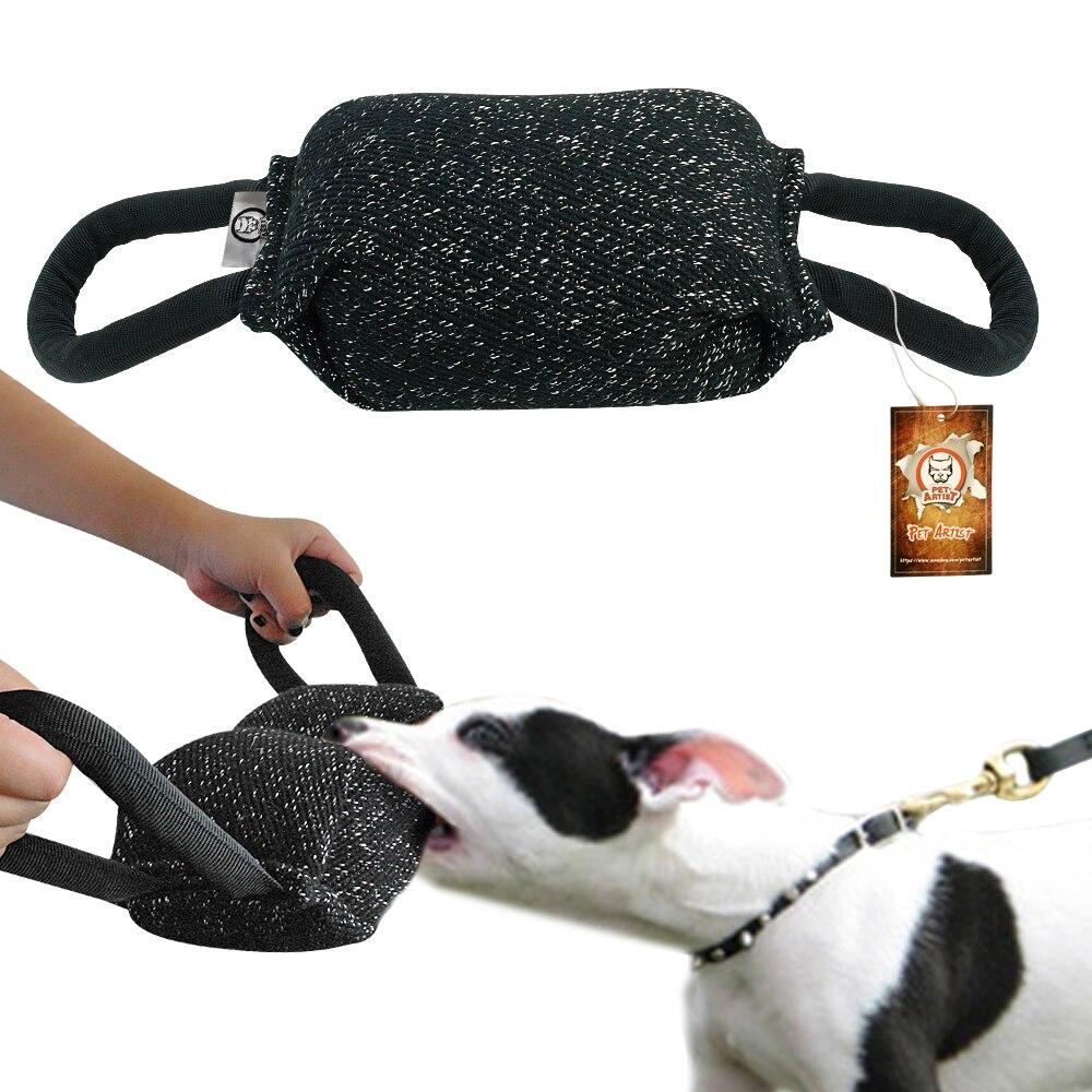 Indestructible Dog Tug Toy: Durable Dog Chew Toys Pitbull Bug K9 Bite Tug Pillow Large