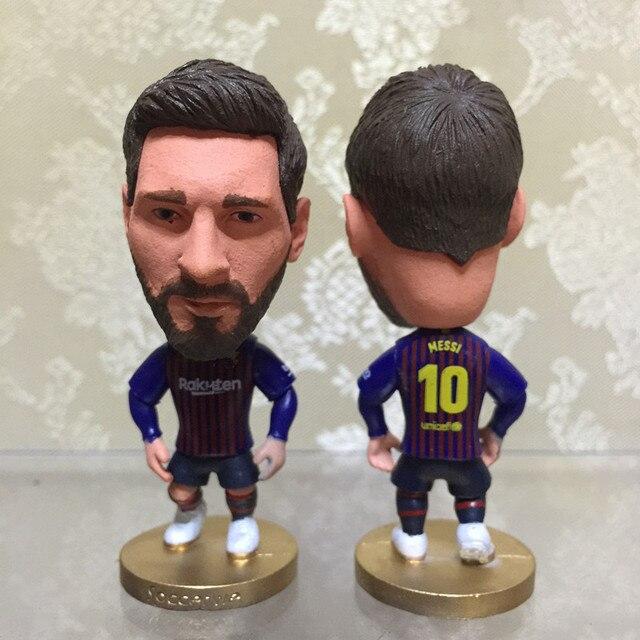 Soccerwe 2018-19 Musim Seri 6.5 Cm Tinggi Resin Sepak Bola Doll Bintang 10  Messi 516929d304
