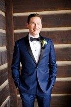 Latest Coat Pant Designs Navy Blue Wedding Suits For Men Jacket Slim Fit Skinny 2 Piece Groom Tuxedo Custom Blazer Masculino