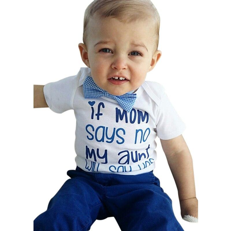 Neugeborenen Baby Jungen Mädchen Kleidung Wenn Mama Nein