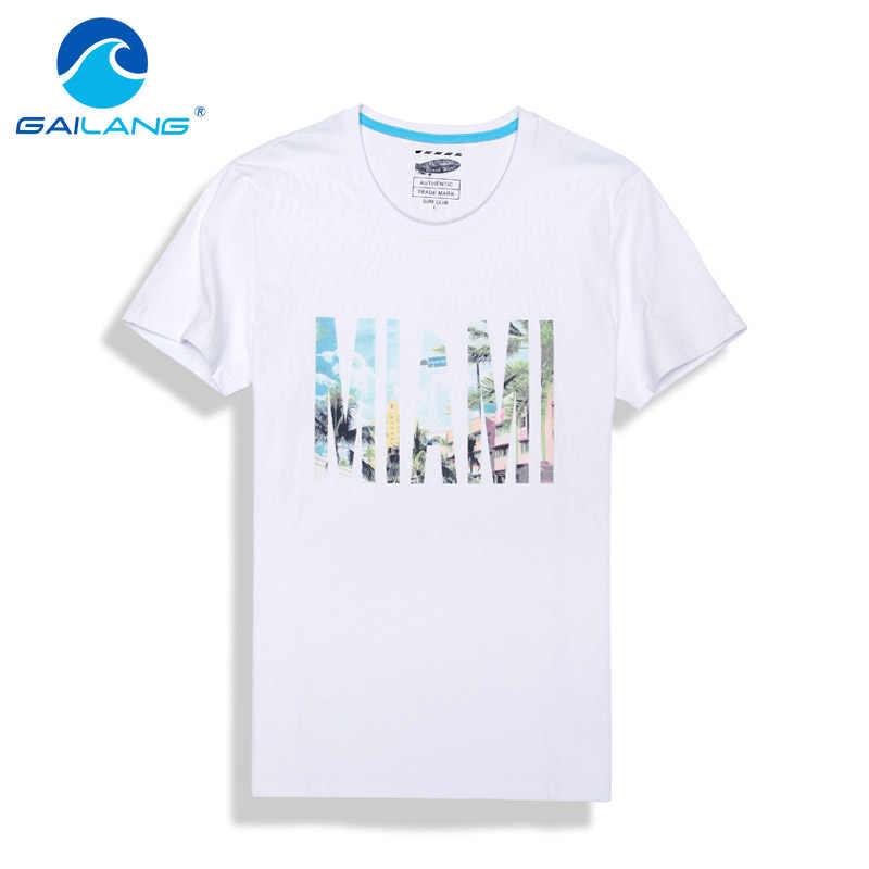 af942837c21a6 Gailang Brand Men T Shirts Short Sleeve Cotton Mens T-shirt O Neck Shirts  Print