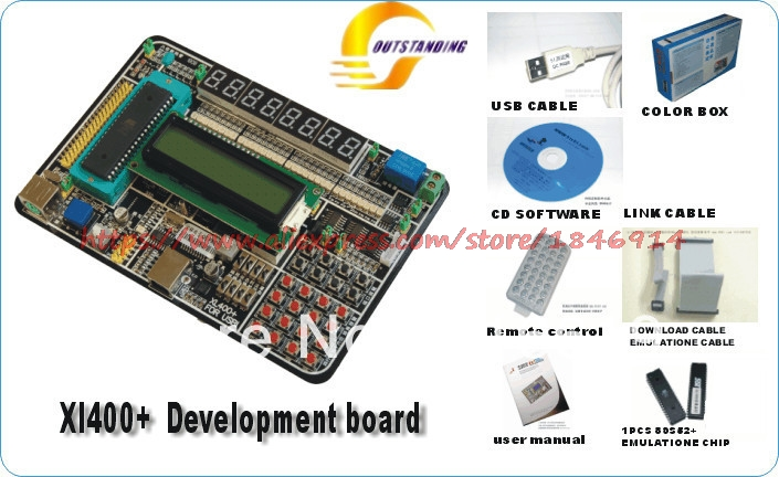 Free Shipping Xl400 + 51 Single Chip Microcomputer Isp Download Learning Board Experiment Board Development Board