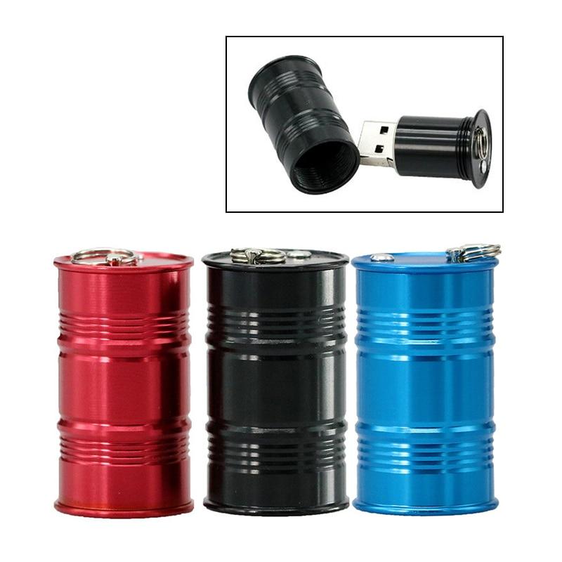Mini Metal Barrel Usb Flash Drive Oil Gasoline Bottle Drum Model Pen Drive Memory Stick Storage Pendrive 4G 8G 16GB 32GB Usb 2.0