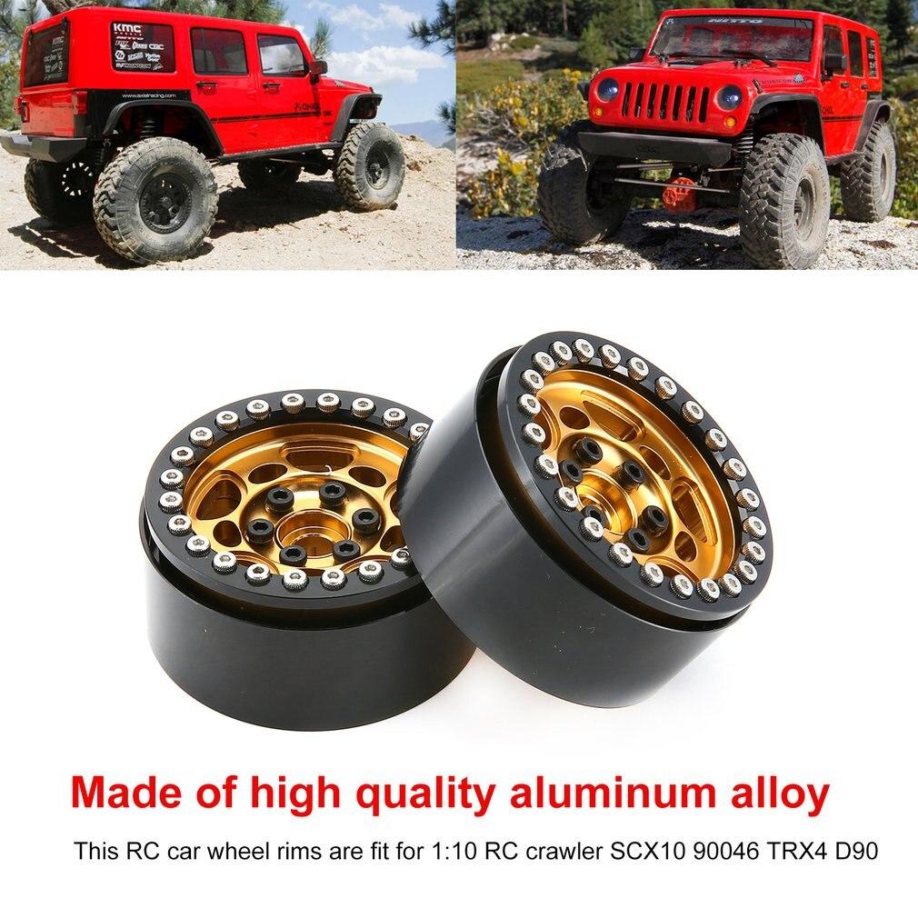 1Pair/2Pairs Alloy 1.9 CNC Beadlock Wheels Rims CJGLG0014 For 1/10 RC Crawler Axial SCX10 SCX10 II 90046 Traxxas TRX4 D90