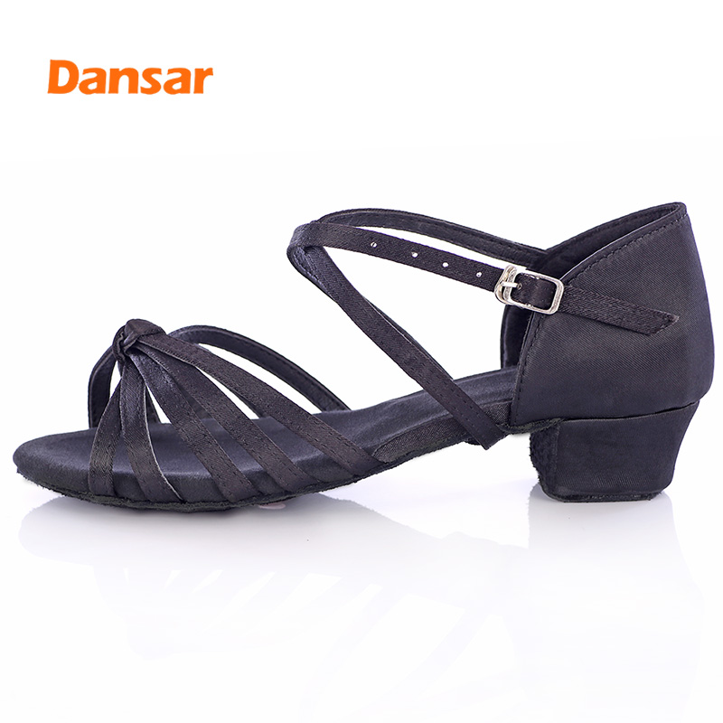 High Quality Professional Jazz Ballroom Tango Salsa Latin Dance Shoes For Girls Children Kid Women's Soft Bottom Low Heel