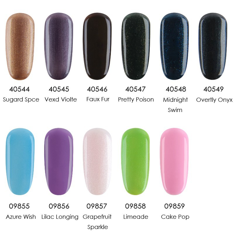 24pcs Lot Uv Led Soak Off Cnd Shellac Nail Gel Polish Total 116 Colors The Best Base And Top Coat In From Beauty Health On