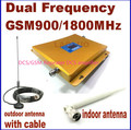 Pantalla lcd! doble banda GSM 900 MHZ y DCS 1800 MHZ señal GSM repetidor DCS amplificador + antena exterior cubierta 1 Sets