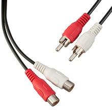 GREATLINK przedłużacz AV RCA Stereo rozszerzenie Audio kabel 2RCA męski na 2RCA żeński rozszerzenie Audio kabel czerwony/biały złącze