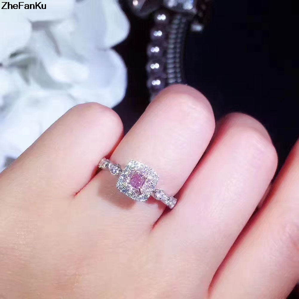 Exaggerated Wedding Rings For Women Squared Princess Cut Micro Paved ...