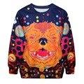 Fashion Long Sleeve Suit Print Animal Tracksuit Hoodie Cute Pullover Sweatshirt for Women