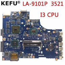 KEFU VW55C 0VW55C VAW01 LA-9101P motherboard  FOR DELL INSPIRON 3521 5521 Laptop Motherboard I3 CPU PM Test motherboard цена и фото