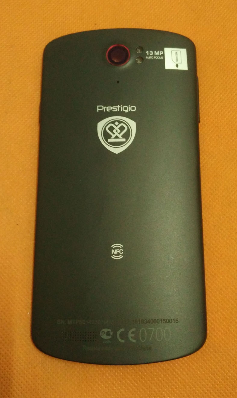 Used Original Protective Battery Case Cover for Prestigio PAP 7500 PAP7500 MTK6589 5.0 FHD 1920x1080 Free shipping