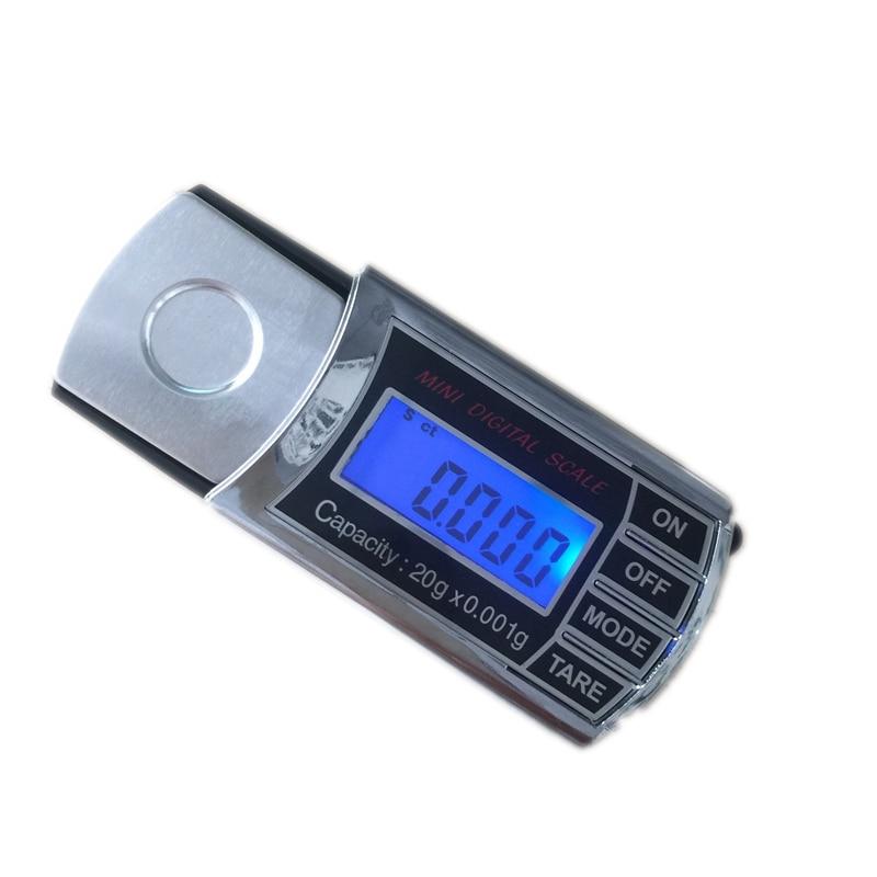 20g 0,001g LCD Cyfrowy miligram Gramowa skala kieszonkowa Mini - Przyrządy pomiarowe - Zdjęcie 3
