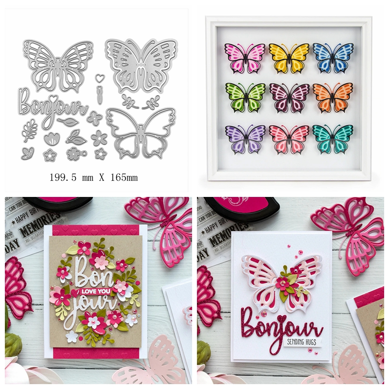 Layered Butterfly in Flower Metal Cutting Die Stencil For Diy Scrapbooking Paper Cards Crafts Newest Embossing 2019 Dies Decor