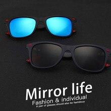 مربع الإطار الرياضة الرجال النظارات الشمسية المستقطبة بالمستخدم الألوان نظارات شمسية في الهواء الطلق القيادة اللونية مكبرة مع صندوق حملق