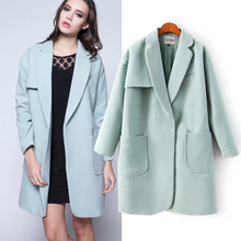 Hot sale  autumn and winter the brand new European and American style ladies's double velvet sort within the lengthy hair coat