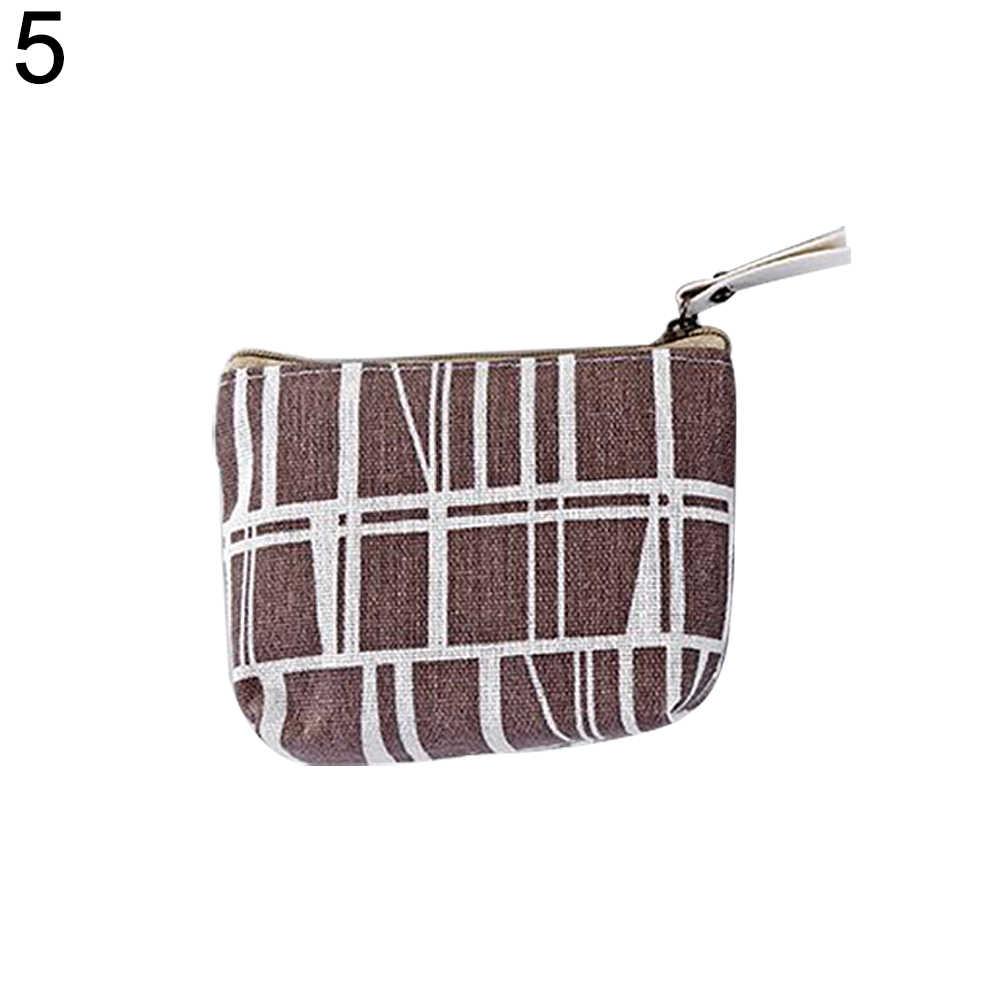 Women Leather Small Mini Wallet Holder Zip Coin Purse Clutch Handbag Portable Key Coin Purse money bag top quality