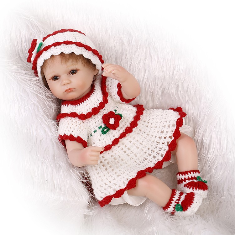 Lifelike Silicone Reborn Baby Doll Toy Girls Princess Birthday Gifts Present Play House bedtime Toy Simulation Dolls Collection 50cm princess baby dolls toys for girls lifelike birthday present gift for child early education play house bedtime toy dolls