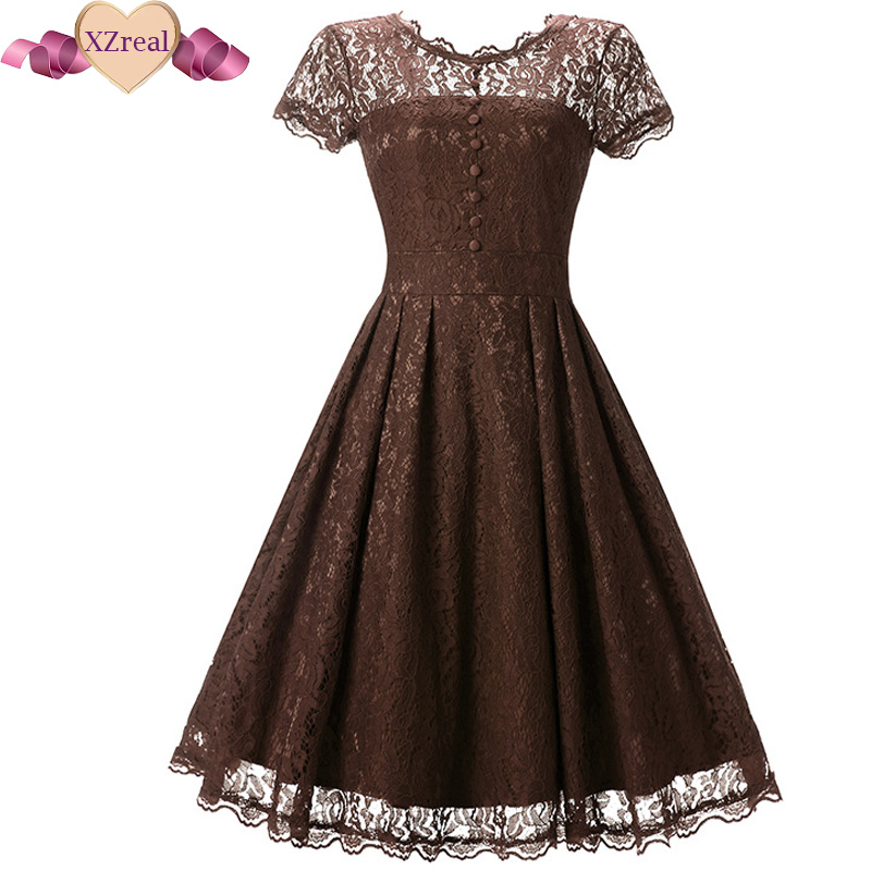 Lace dress casual 1950s