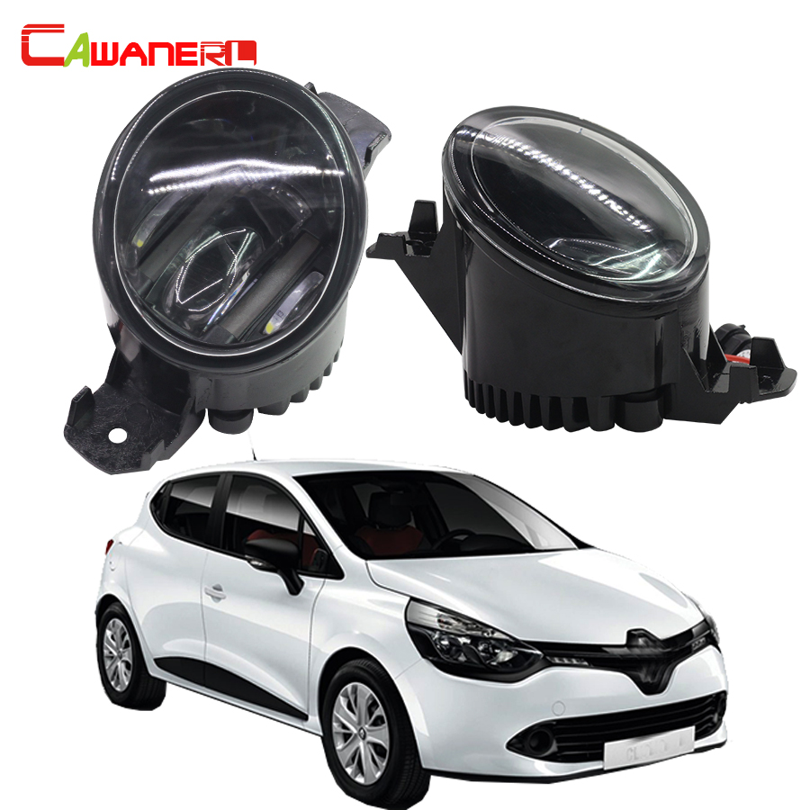 Cawanerl 2 Pieces Car Right + Left Fog Light LED DRL Daytime Running Lamp 12V For 1998-2004 Renault Clio 2 / II Box (SB0/1/2_) cawanerl for toyota highlander 2008 2012 car styling left right fog light led drl daytime running lamp white 12v 2 pieces